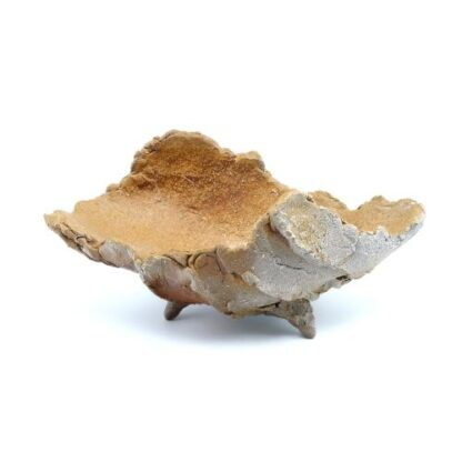 備前焼のシャコ貝のような形の花器 作家は友利幸夫