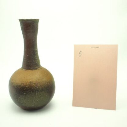 備前焼の花器・一輪花入れ 作家は太田篤