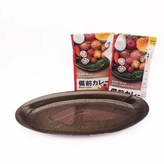 備前焼カレー皿と備前カレー